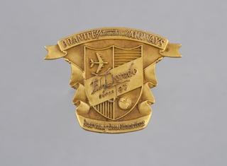 stewardess hat badge: Braniff International Airways