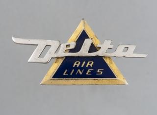 stewardess hat badge: Delta Air Lines