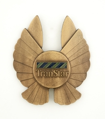 flight officer cap badge: TranStar Airlines