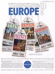 advertisement: Pan American World Airways, Saturday Evening Post