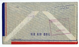 airmail flight cover: Transpacific Air Mail, Suva (Fiji) - London route