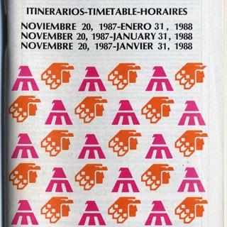 timetable: AeroMéxico, Mexicana