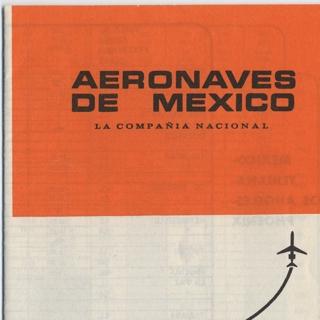 timetable: Aeronaves de Mexico