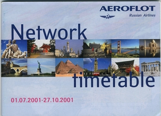 timetable: Aeroflot Russian Airlines