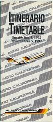 timetable: Aero California, Summer edition