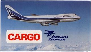timetable: Aerolineas Argentinas, Cargo