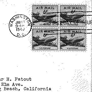 airmail flight cover: United States Air Mail