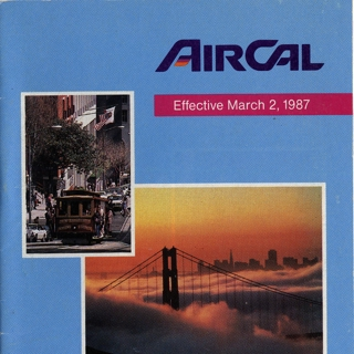 timetable: AirCal, American Airlines