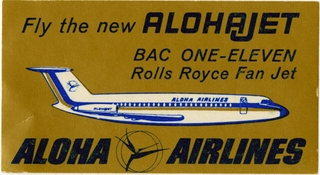 luggage label: Aloha Airlines