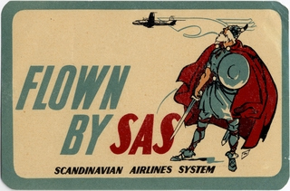 luggage label: SAS (Scandinavian Airlines System)