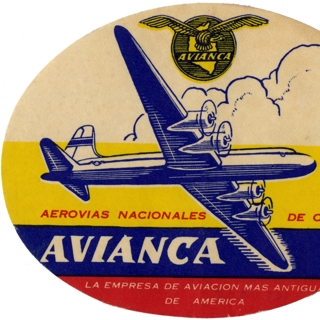 luggage label: Avianca Airlines