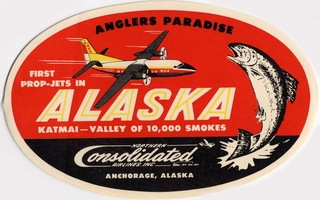 luggage label: Northern Consolidated Airlines