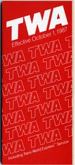 timetable: TWA (Trans World Airlines), including Trans World Express Service