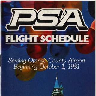 timetable: Pacific Southwest Airlines (PSA)