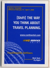 timetable: Continental Airlines