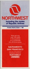 timetable: Northwest Airlines, includes Republic Airlines