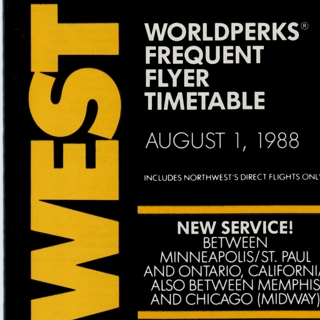timetable: Northwest Airlines, Worldperks