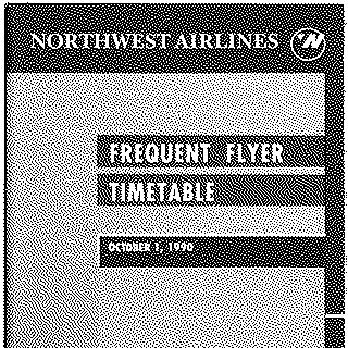 timetable: Northwest Airlines