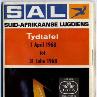 timetable: South African Airways (SAL)