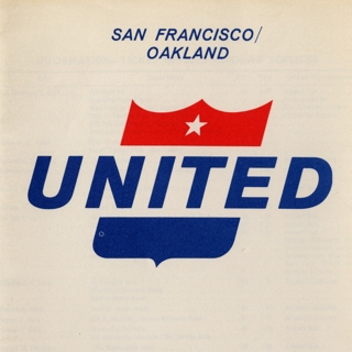 timetable: United Air Lines, San Francisco and Oakland