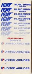 timetable: United Airlines and Inland Empire Airlines (IEA)