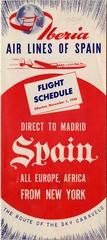 timetable: Iberia, Lockheed L-1049G Super Constellation