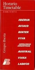 timetable: Grupo Iberia