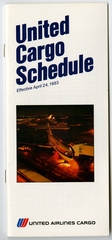 timetable: United Airlines, cargo schedule