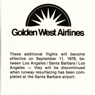timetable: Golden West Airlines