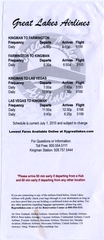 timetable: Great Lakes Airlines
