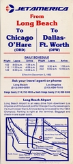 timetable: Jet America Airlines, quick reference