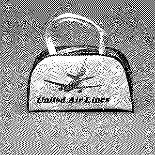 miniature airline bag: United Air Lines