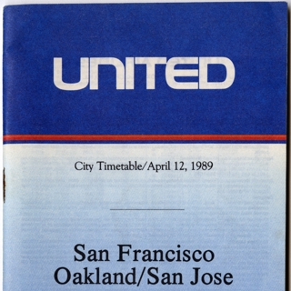 timetable: United Airlines, quick reference San Francisco / Oakland / San Jose