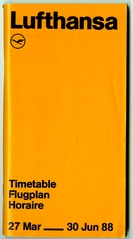 timetable: Lufthansa German Airlines