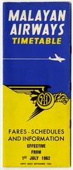 timetable: Malayan Airways