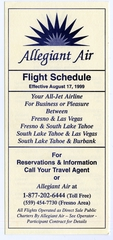 timetable: Allegheny Airlines