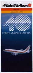 timetable: Aloha Airlines