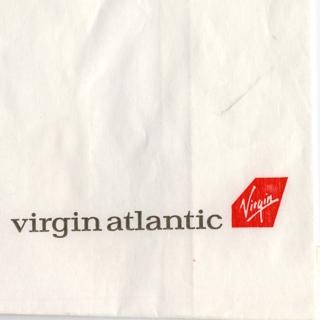 airsickness bag: Virgin Atlantic