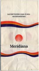 airsickness bag: Meridiana