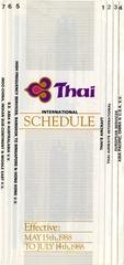 timetable: Thai Airways International