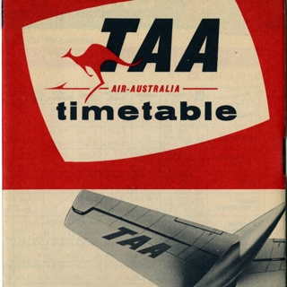 timetable: Trans Australia Airlines (TAA)