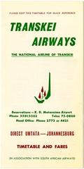 timetable: Transkei Airways
