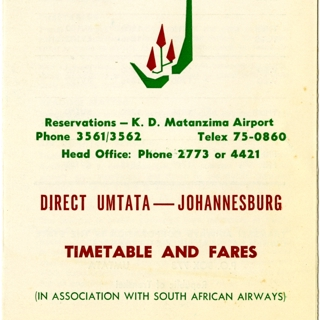 timetable: Transkei Airways