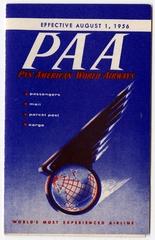 fare schedule: Pan American World Airways, Continental U.S. to Latin America, Alaska, Transpacific and Transatlantic