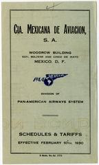 timetable: CIA Mexicana de Aviación S.A., Pan American Airways
