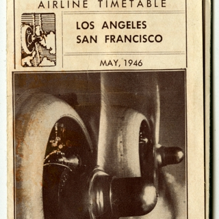timetable: United Air Lines, TWA (Trans World Airlines), Western Airlines