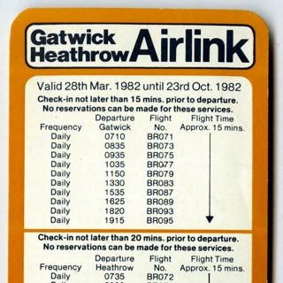 timetable: Gatwick Heathrow Airlink