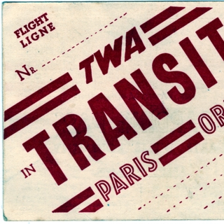boarding pass: TWA (Trans World Airlines)