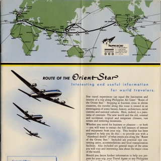 route map: Philippine Air Lines, international routes