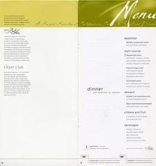 menu: Air New Zealand, Business Class